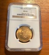 1908 Motto 10 Gold Indian Head Eagle Ngc Ms 62