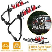 Heavy Duty Car Trunk Hitch Mount Bicycle Stand Carrier Rack Bike Holder 3 Bikes