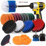 23x Drill Brush Attachment Set Power Scrubber Cleaning Kit Combo Scrub Tub Clean