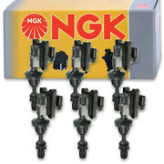 6 Pcs Ngk Ignition Coil For 1990-1996 Nissan 300zx 3.0l V6 - Spark Plug Tune Io