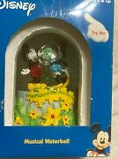 Enesco Disney Traditions Mickey And Minnie Mouse Musical Waterball New