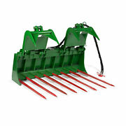 Titan 60-in Tine Bucket Attachment With 39-in Hay Bale Spears Fits Jd
