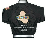 10th Special Forces Grp Operation Iraqi Freedom Army 2-sided Jacket Embroidered