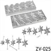 Diy Sea Fishing Lead Weights Mould Cnc Aluminium Star 5 In 1 Mold 1oz To 3oz New