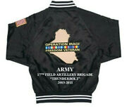 17th Field Artillery Bdeoperation Iraqi Freedom Army 2-sided Jacket Embroidered