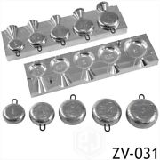 Diy Sea Fishing Lead Weights Mould Sphere Round Cnc Aluminium 5in1 Mold 1oz-3oz