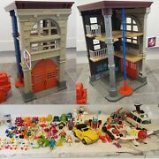 Vintage Kenner Ghostbusters Firehouse Station Ecto Vehicle And Figure Ghost Lot