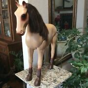 Vtg Toy Plastic Horse Articulated Jointed Hips And Knees For 18 Doll