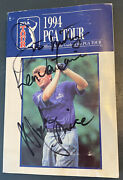 Hof Triple Autographed And Broadcast Used 1994 Pga Tour Official Media Guideread