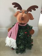 Animated Reindeer Singing And Dancing Christmas Tree Lights Up 23 Moves And Sings