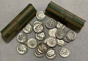10.00 Ten Dollar Face Value 90 Silver Roosevelt Dimes - With 2 5.00 Roll