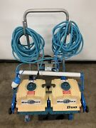 Aqua Products Duramax Duo Robotic Pool Cleaner W/ A7191 Power Supply Cable Cart