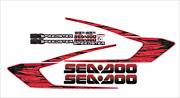 Seadoo Speedster 150/215/255/300 2005 - 2008 Graphics /decal Replacement Kit Red