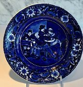 Antique Wilkieand039s The Valentine Clews Historical Staffordshire Plate 9 C. 1820