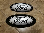 2021 Ford F150 Front And Rear Emblem Custom Matte Black And Iconic Silver