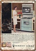 Magic Chef Vintage Gas Stove Ad 12 X 9 Reproduction Metal Sign Zf194