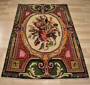 Early 20th Century Antique Highly Collectible Ghiordes Handmade Rug 4ft X6ft
