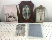 Antique / Vintage Wwi Era Photos 2 Framed, Morocco, French, Rigeault, Rppc