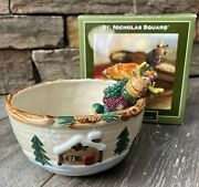St. Nicholas Square Heartland Dip Mix Set Bowl And Moose Ss Spreader In Box