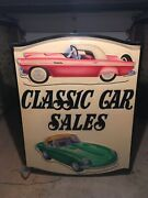Incredible Classic Car Sign Double Sided Lights Up