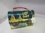 Vintage 1967 Lost In Space Dome Top Lunch Box Pail Exc Cond W/ Thermos A-337