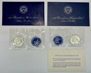 United States Mint 40 Silver Uncirculated Eisenhower Dollar Coins 1971 And 1972