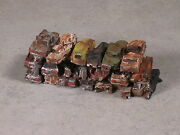 N Scale Stack Of Rusted Out Automobiles