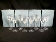 Lenox Firelight Clear No Panel Cut Water Goblets Set Of 8