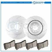 Front Discs Brake Rotors And Ceramic Pads For Land Rover Sport 2006-2009 Drill