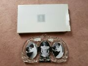 New In Box Mikasa 13 1/4 3 Oval Crystal Princess Picture Photo Frame Wedding