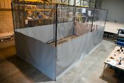 Complete Workshop Booth. Frame With Retractable Workshop Curtains And 3m Track