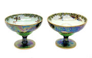 Pair Wedgwood Luster Leap Frogging Elves Cups By Daisy Makeig-jones Circa 1925