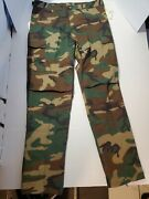 Nwt Rothco Ultra Force Woodland Bdu Camouflage Cold Weather Trousers Large Long