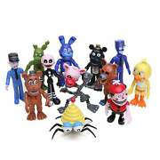 12 Pcs Fnaf Five Nights At Freddys Action Figures Toys Dolls 4 Inch Cake Topper