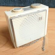 White Cosmos M Kosmos Космос Portable Battery Pocket Transistor Radio + Case