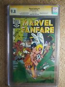 Marvel Fanfare 4 Cgc 9.8 1982 Signed By Michaelcover Art