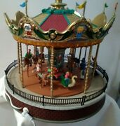 Lemax Sunshine Carousel Sights And Sounds Retired 14325 Read Description
