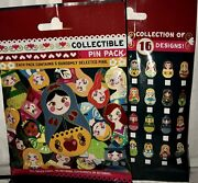 Disney Nesting Dolls New And Sealed 5-pin Collectible Mystery Pin Pack