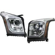 Set Of 2 Headlights Lamps Left-and-right 84294010 84294009 Lh And Rh For Gmc Pair