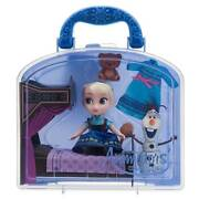 Disney Animatorsand039 Collection Frozen Elsa With Bed Mini Doll Play Set New W Tag