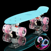 Flashing Led Skateboard Complete Street Long Board Kids Penny Style Scooter 22and039and039