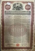 German Government International Loan Young Gold Bond 1000 1930 Stock Germany