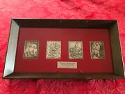 4 Hamilton Mint Silver Ingots Norman Rockwell's Four Freedoms In Display Case