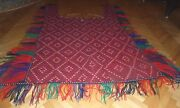 1930and039s Rare Antique Turkoman Yomud Handmade Horse Blanket Never Used