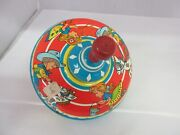 Vintage Ohio Art Spinning Top Metal Childrens Toy Cowboys 256-d