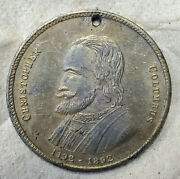 Old 1892 Christopher Columbus Sailing Ship Celebrated In New York Token Medal