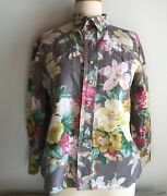 Smart Shop Cheyenne Floral Vintage S M Western Rodeo Cowboy Pearl Snap Shabby