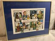 Peter Prints Framed And Matted Principalsandrdquocomic Strip Artwork Wall Printpic
