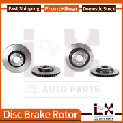 Front And Rear Brembo Coated Oe Brake Rotors Set For Porsche Cayenne 2008