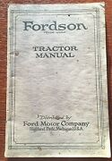Vintage 1920 The Fordson Ford Motor Company Tractor Manual
